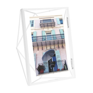 Cadre photo rectangle Prisma couleur blanc Umbra