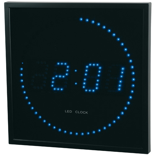 horloge digitale led bleue. Black Bedroom Furniture Sets. Home Design Ideas