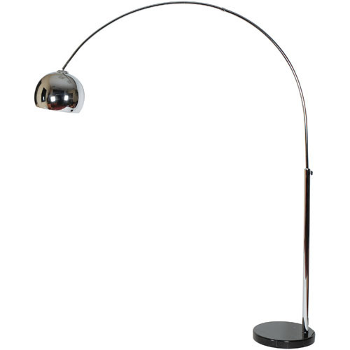 Lampadaire arc design chrome for Lampadaire la chaise longue