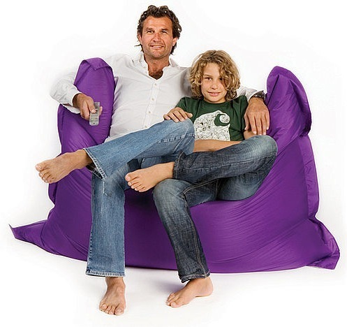 Pouf Sit On It Violet, pouf poire original sit on it violine