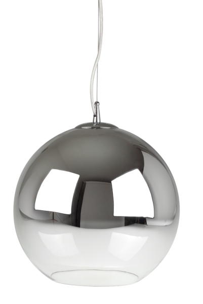 suspension verre et chrome globe. Black Bedroom Furniture Sets. Home Design Ideas