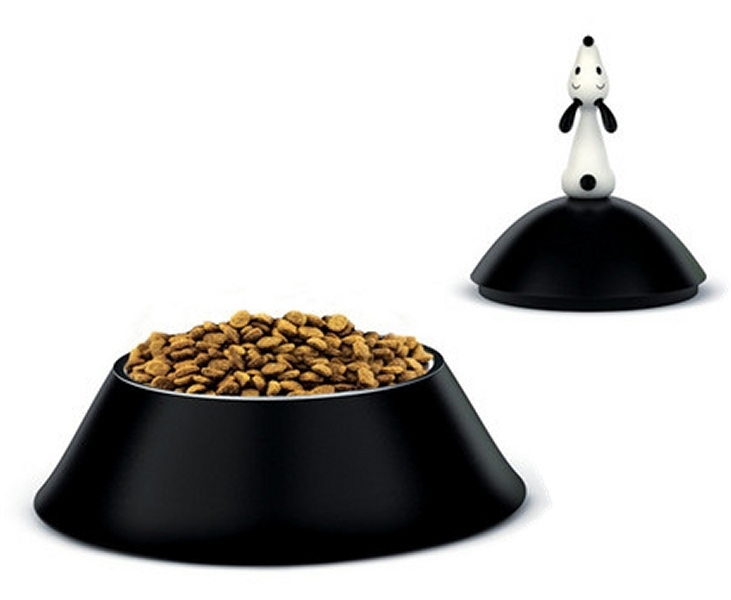 gamelle chien noire lul alessi. Black Bedroom Furniture Sets. Home Design Ideas