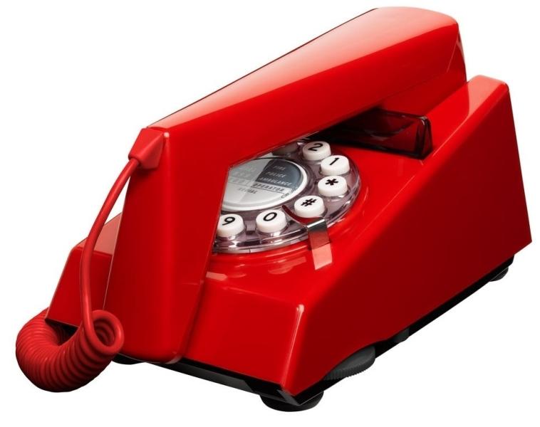 telephone retro vintage 70 39 rouge. Black Bedroom Furniture Sets. Home Design Ideas