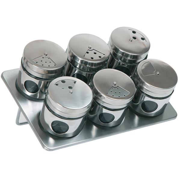 Set de 6 pots à épices magnétique