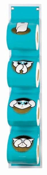 porte papier toilette kat derri re la porte porte papier toilette bleu. Black Bedroom Furniture Sets. Home Design Ideas