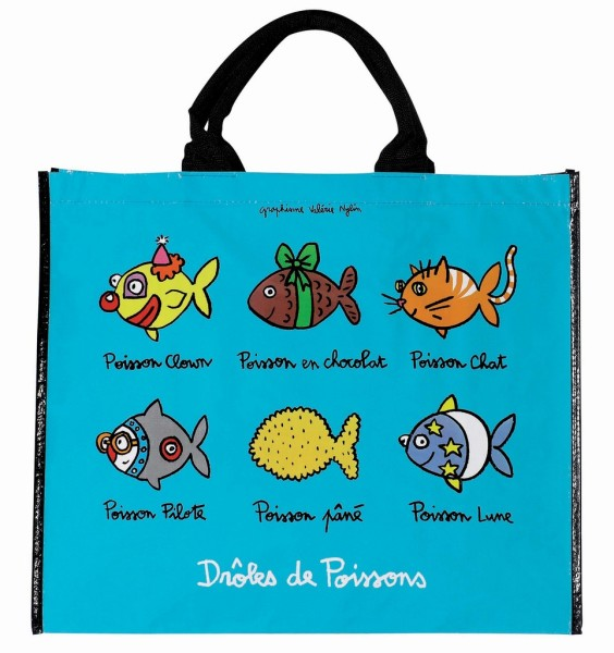 sac cabas poissons derriere la porte sac cabas et sac course dlp. Black Bedroom Furniture Sets. Home Design Ideas
