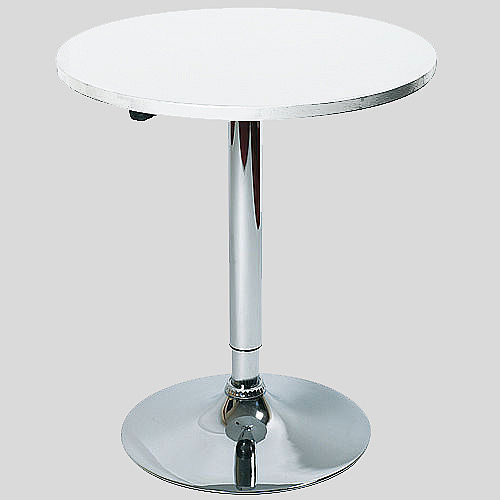 Table de bar ronde blanc for Table ronde bar
