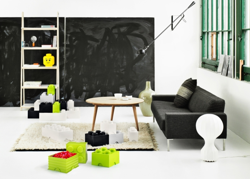 boite rangement lego vert 4 plots. Black Bedroom Furniture Sets. Home Design Ideas