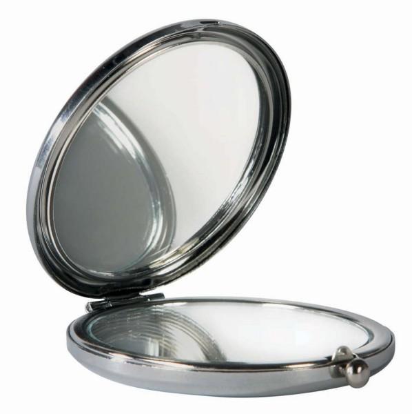 miroir de poche kat derriere la porte miroir de poche chat bleu. Black Bedroom Furniture Sets. Home Design Ideas