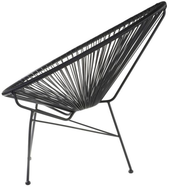 set de 2 fauteuils acapulco noir. Black Bedroom Furniture Sets. Home Design Ideas