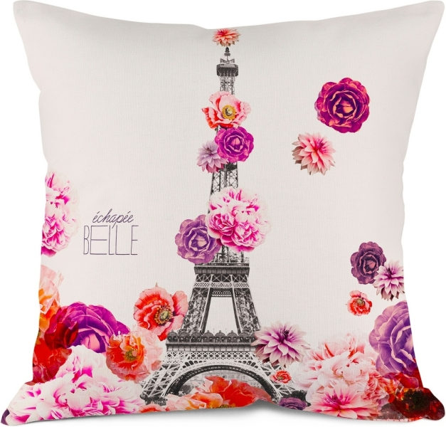 coussin deco tour eiffel. Black Bedroom Furniture Sets. Home Design Ideas