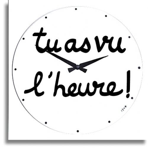 horloge d coration tu as vu l 39 heure incidence horloge design. Black Bedroom Furniture Sets. Home Design Ideas