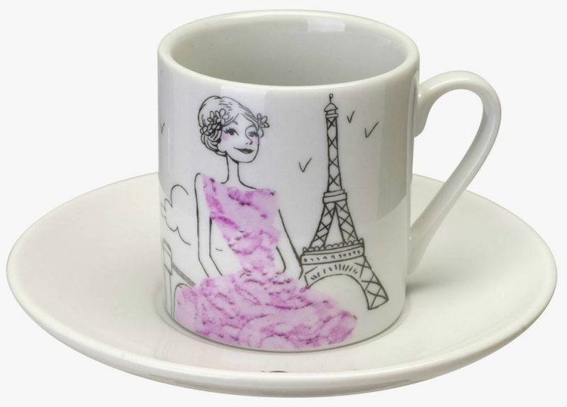 Coffret 6 tasses caf les parisiennes - La chaise longue paris 16 ...