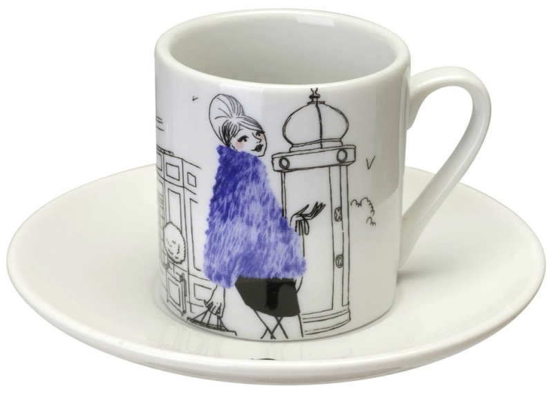 coffret 6 tasses caf les parisiennes. Black Bedroom Furniture Sets. Home Design Ideas