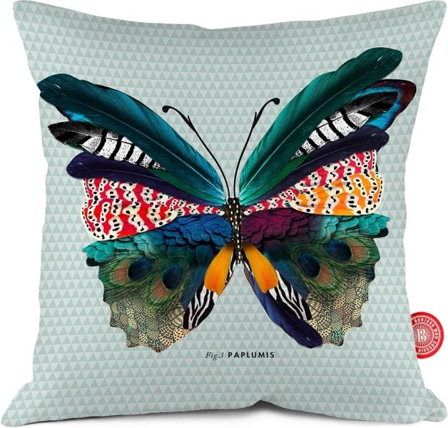 coussin deco papillon 35x35. Black Bedroom Furniture Sets. Home Design Ideas
