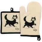 Lot gant/manique Dubout Chat balade de Winkler