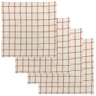 Lot de 4 serviettes de table Karma carreaux écru/rouge de Winkler