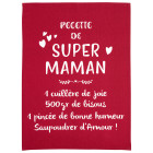 Torchon message Super maman rose de Winkler